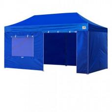 Раздвижные садовые шатры 3х6 беседка тент навес  Синий