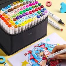Видообзор! Набор качественных маркеров Touch Multicolor 168штук.Двусторонние маркеры для рисования и скетчинга