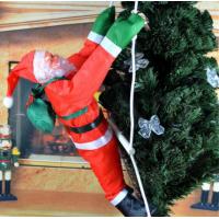 Ползущие по лестнице Дед мороз и Санта Клаус