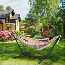 Гамак с каркасом, хлопковый гамак со стойкой для дома и сада 80 см
